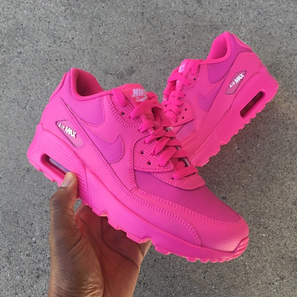 Nike Air Max 90 LTR (GS) 833376 603 Pink Girls UK 4 | eBay